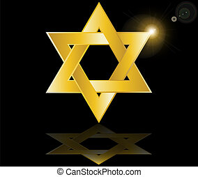 hebrew Jewish Star of magen david