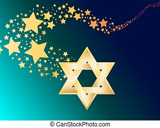 hebrew Jewish Star of magen david vector illustration