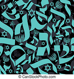 Hebrew Seamless Pattern - Vector seamless pattern design...