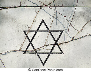Hebrew star of David - Israeli star of David on a gravestone...