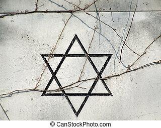 Hebrew star of David - Israeli star of David on a gravestone...