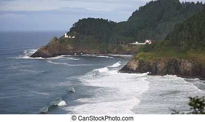 Heceta Head Oregon Coast Lighthouse Nautical Beacon USA -...