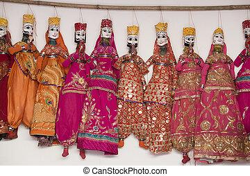 hechaa mano, títeres,  India, colorido