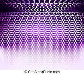 hechicería, resumen, fondo cuadrícula, violeta