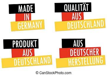 hecho, alemania, colección, sellos