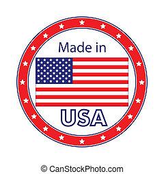 hecho, en, estados unidos de américa, ilustración