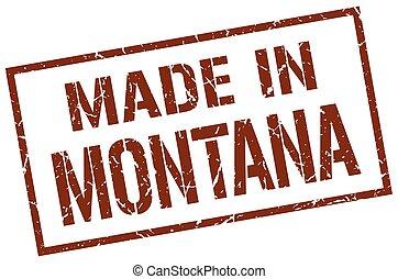 hecho, en, montana, estampilla