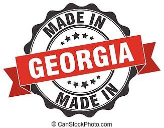 hecho, georgia, redondo, sello