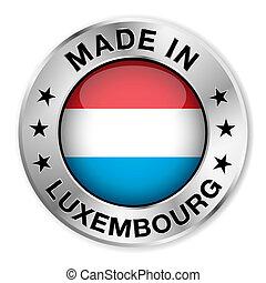 hecho, insignia, plata, luxemburgo