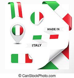 hecho, italia, colección