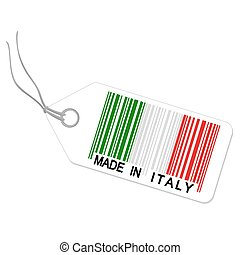 hecho, italia, hangtag