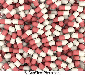 hecho, píldoras, plano de fondo
