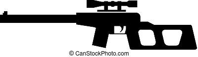 heckenschütze, ikone, gewehr