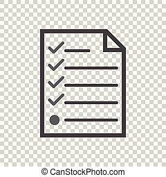 hecklist icon. Flat vector illustration