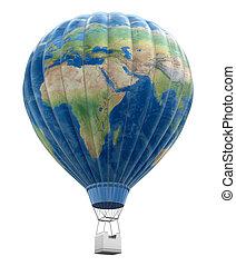 hed luft ballon, hos, verden kort