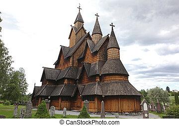 Heddal stavkirke in Norway