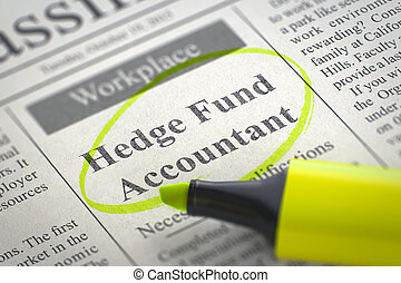 Hedge Fund Accountant Wanted.