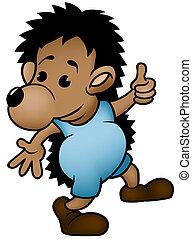 Hedgehog - Cartoon Illustration, Vector