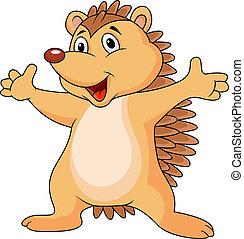 Hedgehog cartoon - Vector illustration of hedgehog cartoon