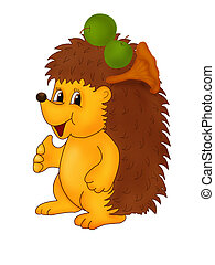 Hedgehog - Childish illustration of hedgehog