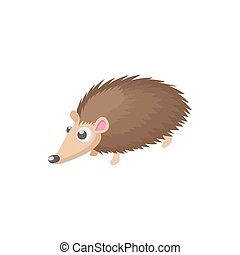 Hedgehog icon, cartoon style