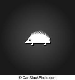 Hedgehog icon flat.