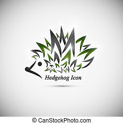 Hedgehog icon - Vector icon hedgehog. Eps 10