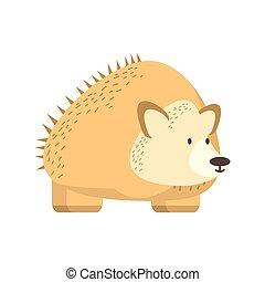 hedgehog jungle animal in cartoon abstract design