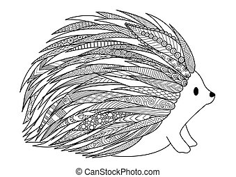 Hedgehog - Line art design of hedgehog for t shirt design, ...