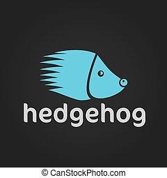 hedgehog silhouette vector design template