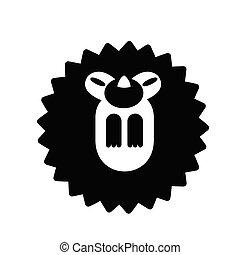 Hedgehog Solid illustration - Puffy hedgehog vector...