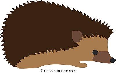Hedgehog - vector cute hedgehog