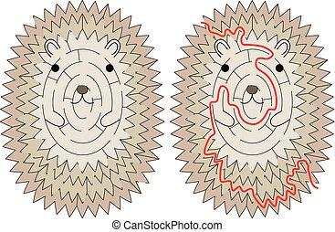 Hedgehoge maze