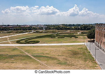 Hedges in front of the Caserta Royal Palace