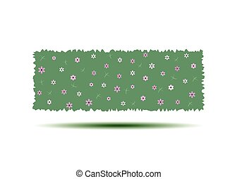 hedges., jardin, vertical, mur, landscaping., isolé, illustration, dessin animé, arrière-plan., vecteur, blanc vert, fleurir