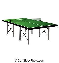 hedor sonido corto metálico, tenis, tabla verde