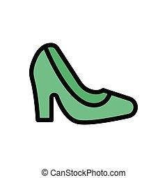 heel flat color icon