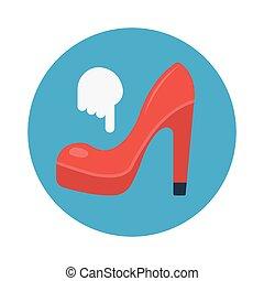 heel flat icon
