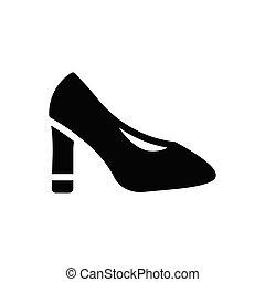 heel  glyph flat icon