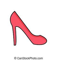 heel line flat icon