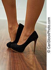 Heels close up