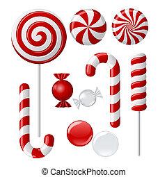 heerlijk, lollipop, verzameling