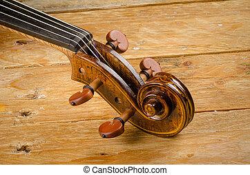 hegedű nyak