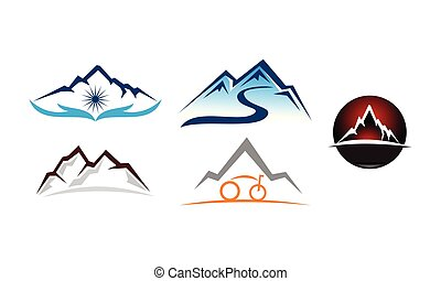 hegy, állhatatos, oldás, sablon