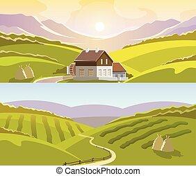 hegy, állhatatos, transzparens, táj