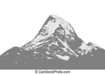 hegy, árnykép, csúcs