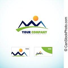 hegy, ügynökség, alakít, jel, idegenforgalom, ikon
