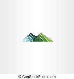 hegy, aláír, vektor, hegy, jel, ikon