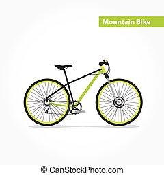 hegy, bicikli, bicikli, lakás, icon.