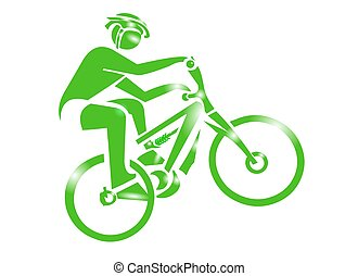 hegy bicikli, sport, ikon